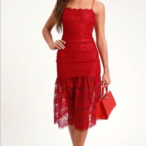 BRAND NEW WITH TAGS Gorgeous red lace dress